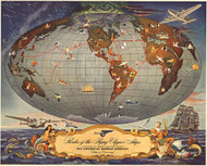 Routes of the Flying Clipper Ships 1941
