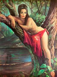Woodland Goddess by JH Lynch Art Print