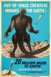 20 Million Miles to Earth 1957 Movie Poster