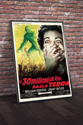 20 Million Miles To Earth 1960 Italian Movie Poster Framed