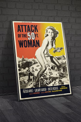 Attack of The 50 Foot Woman 1958 Movie Poster Framed
