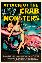 Attack of The Crab Monsters 1957 Movie Poster