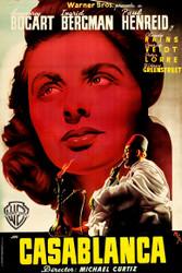 Casablanca 1940s Spanish Movie Poster