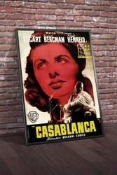 Casablanca 1940s Spanish Movie Poster Framed
