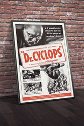 Doctor Cyclops 1960s Military Movie Poster Framed