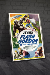 Flash Gordon 1940s II Movie Poster Framed