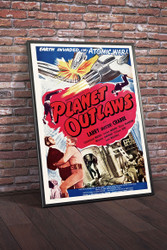 Planet Outlaws 1950s Movie Poster Framed