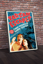Tarzan Escapes 1936 Movie Poster Framed