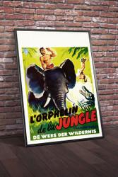 Tarzan in Istanbul 1960s Belgian Movie Poster Framed