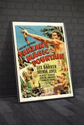 Tarzans Magic Fountain 1949 Movie Poster Framed