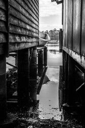 Between The Boatsheds by Andrew Wilson Photography
