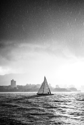 Sailing Through The Storm by Andrew Wilson Seascape Print