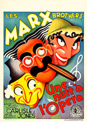 A Night At The Opera 1936 Marx Bros Belgian Movie Poster