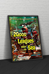 20000 Leagues Under The Sea Buena Vista 1954 Movie Poster Framed