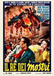 Godzilla Raids Again Gigantis The Fire Monster 1957 Italian Movie Poster