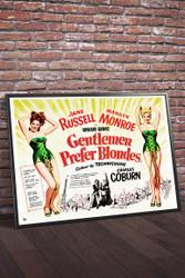 Gentlemen Prefer Blondes 1953 Movie Poster Framed