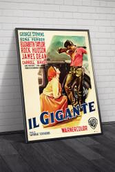 Giant 1956 Italian Movie Poster Framed