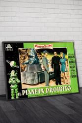 Forbidden Planet 1956 Italian Photobusta Movie Poster Framed