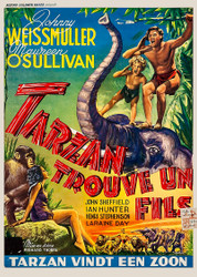 Tarzan Finds A Son 1940s Belgian Movie Poster