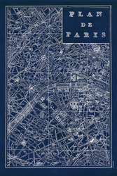 Blueprint Map Paris