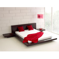 Queen size Modern Platform Bed w/ Headboard and 2 Nightstands in Espresso QMPBE5198417