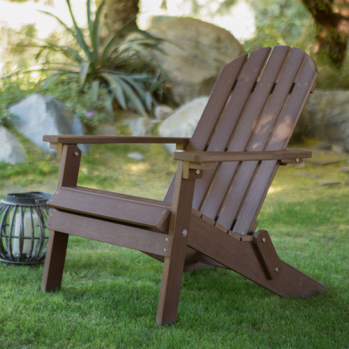 Weather resistant adirondack chair chocolate brown plastic resin - Brown resin adirondack chairs ...