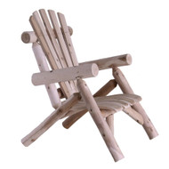 Outdoor Adirondack Style Cedar Log Lounge Chair - Made in USA LMCLC9668