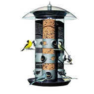 2-in-1 Triple Tube Squirrel Baffle Bird Feeder B21TF4495