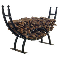 Round Crescent Firewood Rack - One Fourth Cord Log Storage CGFSR164753