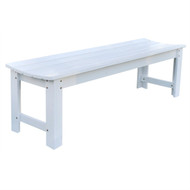 5-Ft Backless Outdoor Garden Bench in Cedar Wood - White BGBW851898