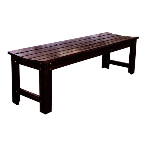 5-Feet Backless Outdoor Garden Patio Cedar Wood Bench in Burn Brown SHB239518