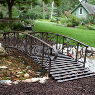 8-Ft Metal Garden Bridge in Weathered Black Finish - 750-lb Weight Capacity CWMB1856485