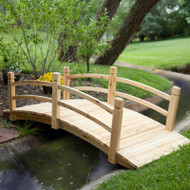 8-Ft Freestanding Landscape Garden Bridge in Unfinished Fir Wood GBG85489447