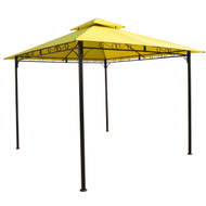 10-Ft x 10-Ft Yellow Canopy with Sturdy Powder-coated Outdoor Iron Frame VYTGC5148411