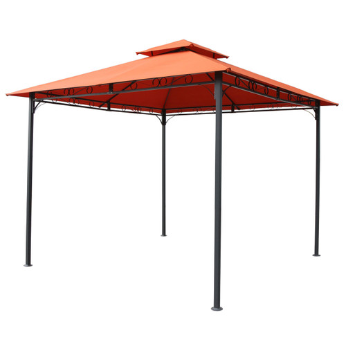 terracotta 10 ft x 10 ft all weather canopy outdoor black. Black Bedroom Furniture Sets. Home Design Ideas