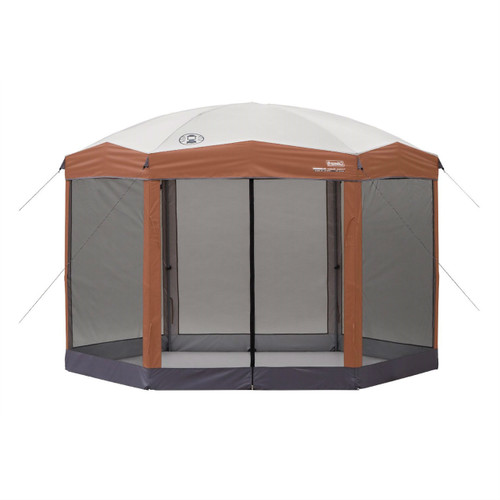 12ft X 10ft Hexagon Screened Canopy Gazebo Removable
