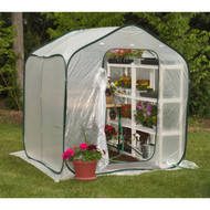 Spring Gardener Flower-House Lightweight Greenhouse (6' x 6') WFSHG128351