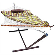 Rope Hammock Set with Stand Pad and Pillow 55 x 144-inch - Desert Stripe DS12951518