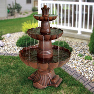 3-Tier Outdoor Garden Fountain in Durable Poly-Vinyl Composite - Bronze Color GF54189415