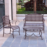 3-Piece Wrought Iron Patio Furniture Lounge Seating Group Set IC3PF30429