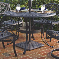 42-inch Round Black Metal Outdoor Patio Dining Table with Umbrella Hole RBPT658181914