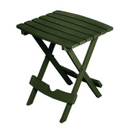 Folding Outdoor Side Table in Earth Brown Durable Plastic Resin BFPT54816