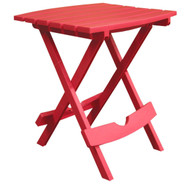 Folding Side Table for Outdoor Patio Lawn in Cherry Red Durable Resin CRST6481