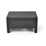 Contemporary Outdoor Coffee Table in Durable Black Plastic Rattan KCTB516851