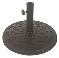 30 lb Free Standing Sturdy Outdoor Resin Umbrella Base in Grey Black Finish W3037UP