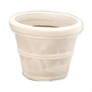 12-inch Diameter Round Planter in Weathered Stone Finish Poly Resin SHV12895485