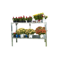 Outdoor Metal Shelving Unit Garden Potting Bench in Sturdy Galvanized Steel MSPB89915