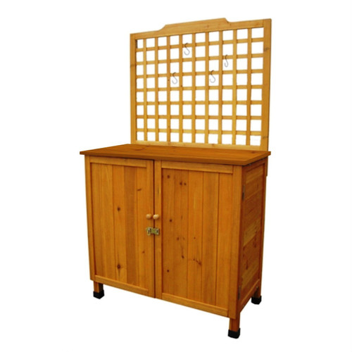 Storage Solid Wood Cabinet Potting Bench Hanging Lattice Trellis