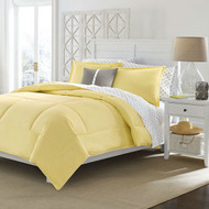 Twin size Cotton Comforter in Solid Yellow - Machine Washable YCT6841818741