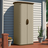 Durable Double Wall Resin Outdoor Garden Tool Storage Shed - Made in USA VLGS19675